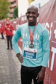 Ein Lächeln nach dem Halbmarathon: Honoré Matter.
