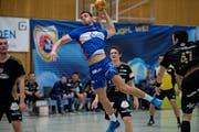 Aleksandar Radovanovic (22) im Heimspiel gegen Suhr Aarau. (Bild: Corinne Glanzmann (Kriens, 19. Februar 2017))