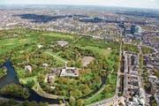 Luftaufnahme über dem Regent's Park – die britische Metropole zählt rund 140 öffentliche Parkanlagen. (Bild: Andrew Holt/Getty (London, 28. April 2015))