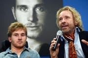 Samuel Koch (links) war am Sonntagabend in einen Autounfall verwickelt. (Bild: AP)