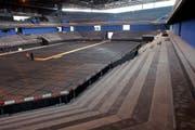Blick in die entstehende Bossard-Arena. (Bild Stefan Kaiser/Neue ZZ)