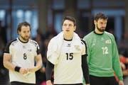 «Wer so gerne Handball spielt wie ich, aber es nicht tun darf, der ist natürlich nicht glücklich. Aber ich bin auf einem guten Weg», Nicolas Raemy, Spieler HC Kriens-Luzern (Mitte). (Bild: Etienne Zegers/freshfocus (Orange Pictures))