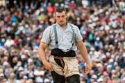 Einer Schulterblessur hindert den Thurgauer Samuel Giger an der Teilnahme am Unspunnen-Fest. (Bild: Rolf Eicher (EQ Images))