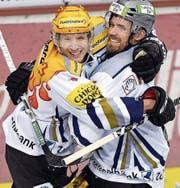 Henrik Zetterberg (rechts) und Damien Brunner bilden ein unvergessliches Duo.