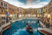 Auf Gondelfahrt im «Venetian Macao». (Bild: Chris McGrath (Getty Images AsiaPac))