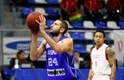Der 33-jährige Veselin Veselinov spielt neu bei Swiss Central Basketball. (Bild: pd)