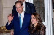 Sie haben keinen Hochzeitsbaum mehr: Prinz William und Herzogin Kate. (Bild: bangshowbiz)