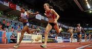An den Hallen-Europameisterschaften 2017 hat Selina Büchel (Mitte) über 800 m gewonnen. Auch in Birmingham ist ihr einiges zuzutrauen. (Bild: Michael Steele/Getty (Belgrad, 5. März 2017))