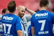 HC Kriens Trainer Heiko Grimm. (Bild: Philipp Schmidli)