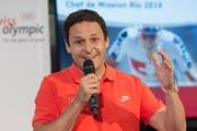 Ralph Stöckli, der Schweizer Chef de mission, rechnet bei den ersten Sommerspielen auf südamerikanischem Boden mit fünf Medaillen (Bild: Keystone / Lukas Lehmann)