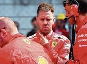 Hatte nichts zu lachen: der Deutsche Sebastian Vettel. Bild: Diego Azubel/EPA (Schanghai, 15. April 2018) (Bild: Diego Azubel/EPA (Schanghai, 15. April 2018))