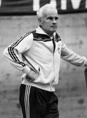 Jack Günthard, hier im Jahr 1985 an der Sportschule in Magglingen im Training. (Bild: Keystone / Str)