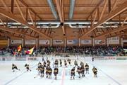 Das Stadion Sagibach ist die Heimstätte des EHC Wiki-Münsingen. (Bild: Peter Schneider/Keystone)