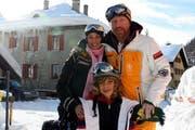 Boris Becker mit Lilly Kerssenberg und Sohn Elias. (Bild André Häfliger/Neue LZ)