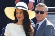 Amal und George Clooney. (Bild: bangshowbiz)