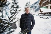 Ottmar Hitzfeld am letzten Donnerstag im verschneiten Engelberg. (Bild: Manuela Jans-Koch (28. Dezember 2017))