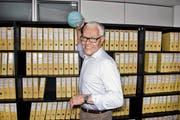 Morgen ist er neuer VR-Präsident der HC Kriens-Luzern AG: Hanspeter Würmli in seinem Büro in Hergiswil NW. (Bild Dominik Wunderli)
