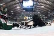 Hockey-Szene aus dem Stadion Kleinholz in Olten. (Bild: Keystone)