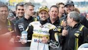 Hat die Sache in Le Mans im Griff: der Berner Moto2-Pilot Tom Lüthi. (Bild: Waldemar Da Rin/Freshfocus (20. Mai 2017))