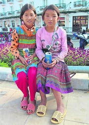 Kinder in der Stadt Sapa, dem früheren Kurort der Franzosen. (Bild: Anemi Wick)