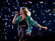 Sängerin Taylor Swift steht bei den MTV Video Music Awards mit neun Nominationen in der Pole Position. (Archivbild) (Bild: KEYSTONE/AP Invision/CHARLES SYKES)