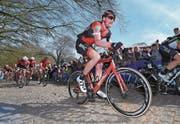 Führte bei Gent–Wevelgem seinen Captain Greg van Avermaet zum Sieg: Stefan Küng. (Bild: Tim de Waele/Freshfocus (Wevelgem, 26. März 2017))
