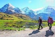 Die Kulisse zum Staunen auf der Kleinen Scheidegg. (Bild: Peter Hummel)
