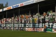 Heute sehnen sich viele Anhänger des FCSG das Espenmoos zurück. (Bild: Archiv)