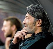 Falsche Taktik neben dem Spielfeld: Trainer Murat Yakin. Bild: Daniela Frutiger/Freshfocus (Zürich, 7. April 2018)