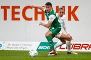 Jugendlich war der FC St.Gallen gegen Zürich vor allem in der Abwehr; mit Silvan Hefti (Bild) und Silvan Gönitzer. (Bild: Marc Schumacher/freshfocus (freshfocus))