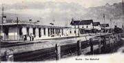 Der Grenzbahnhof Buchs etwa im Jahr 1910, als auch hier noch Schmugglergeschichten passierten.