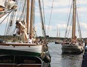 Treffen der Traditionssegler im Hafen von Svendborg. (Bild: Lutz Redecker)