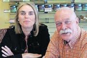 Beide haben in Santa Fe das Glück gefunden: Maria Johnson und Chuck Higgins. (Bild: Bernadette Conrad)