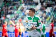 Pendelt beim FC St.Gallen zwischen Startformation und Ersatzbank: Yannis Tafer. (Bild: Urs Bucher)