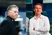 Arbeiten nicht mehr für den EV Zug: Trainer Doug Shedden (links) und Sportchef Jakub Horak. (Bild: Keystone)