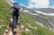 Subalpin: über Stock und Stein ins Mont-Blanc-Massiv. (Bild: Quelle: Bundesamt für Landestopografie, Karte oas)