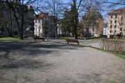 Verwaist: Das Krügerpärkli im Lachen-Quartier (Bild: Michael Zwimpfer)