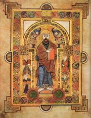 Christus in einer Darstellung im legendären irischen Book of Kells. Es entstand vermutlich um 800 im Kloster Iona vor der schottischen Westküste. (Bild: PD)