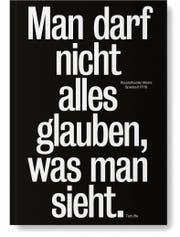 Möglicher Plakatlehrsatz fürs Schulzimmer: Molières «Tartuffe», zur Warnung vor Wirklichkeitsverdrehern. (Bild: Staatstheater Mainz)