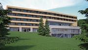 So soll die Südseite des geplanten Jufa-Hotels in Wildhaus aussehen.Visualisierung: Jufa