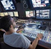 Regieraum von TV Ostschweiz. (Bild: Ralph Ribi)