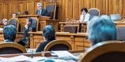 Ivo Bischofberger als Präsident des Ständerats: Souverän und mit trockenem Humor habe er die Sitzungen geleitet, sagen die Ratskollegen. (Bild: Anthony Anex/Keystone (Bern, 28. November 2016))
