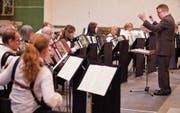 Am 29. April treten die Akkordeonisten zum letzten Mal gemeinsam auf. (Bild: Benjamin Manser (3. April 2011))