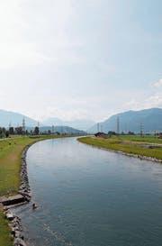 Entlang des Linthkanals, hier von der Grynau aus gesehen, sind 420 Hektaren Land verpachtet. (Bild: Moritz Hager)