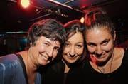 Von der Show angetan: Petra Güttinger (41, Frauenfeld), Liselotte Bosshart (32, Arbon) und Laura Güttinger (32, Bischofszell). (Bilder: Chris Marty)