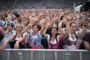 Beste Stimmung am Konzert von Andreas Gabalier im St.Galler Kybunpark. (Bild: Urs Bucher)