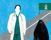 Ein Ärztemaster in St.Gallen und die Entscheidung ob es bei der Burka-Debatte zu einem Volksentscheid kommen wird: In der Ostschweiz bleibt es spannend. (Bild: Patric Sandri/Illustration)