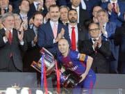 Andrés Iniesta verlässt Barcelona zum Ende dieser Saison (Bild: KEYSTONE/AP/PAUL WHITE)