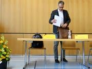 Schluss als Regierungsratskandidat, Schluss als Parteipräsident: Andreas Felix, Geschäftsführer des Graubündnerischen Baumeisterverbandes. (Bild: KEYSTONE/GIAN EHRENZELLER)