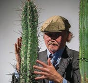 Kostproben seiner Kunst gab's vom frisch gebackenen Kulturpreisträger Christoph Rütimann. (Bild: Andrea Stalder (Warth, 26. Oktober 2016))